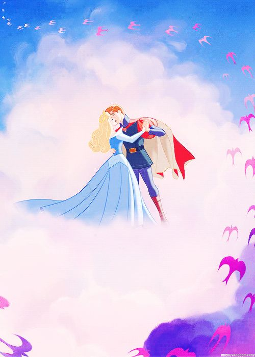 Sleeping Beauty - pink and blue