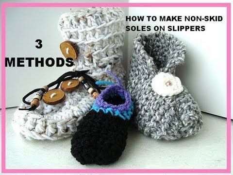 how to make non-skid soles on slippers, 3 methods.
