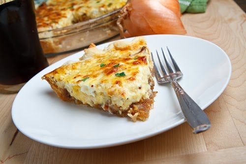 Guinness Braised Onion and Aged White Cheddar Quiche: Cheddar Quiches, Guinness Braised, Onions Quiche, Age White, Recipes, Brai Onions, Braised Onions, White Cheddar, Closet Cooking