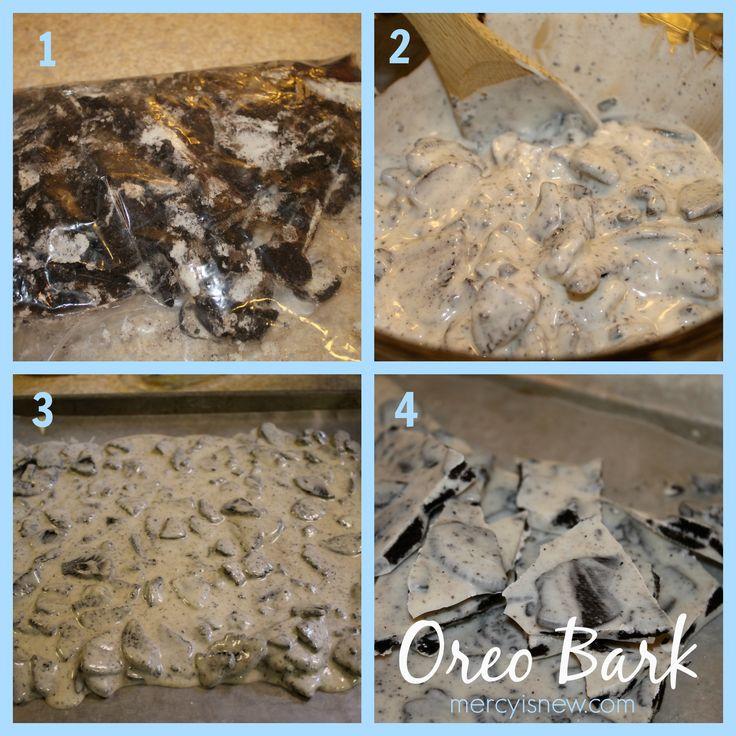 Simple 2 Ingredient Oreo Bark at mercyisnew.com