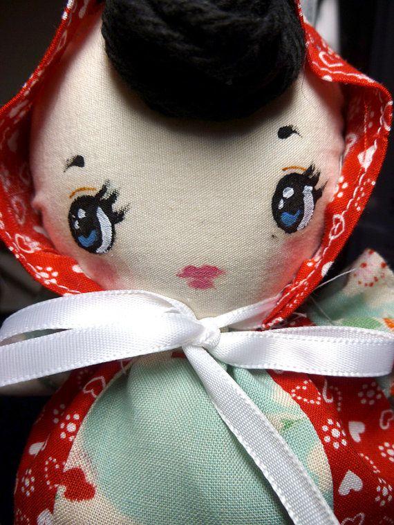 Bunka rag doll sewing pattern printable PDF by dearsweetdarlings, $2.00