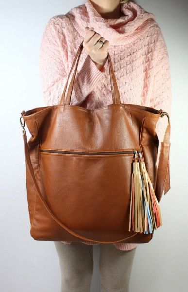 BigBag Fringe Leather