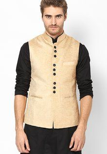 Stylish, Latest Fasionable & Well Designed See Designs Beige Solid Slim Fit Nehru Jacket men features product specifications, reviews, ratings, images, price chart and more to assist the user