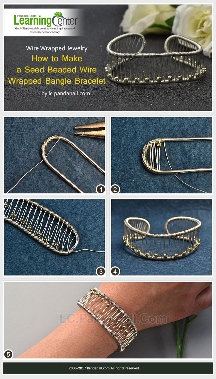 Wire-Wrapped-Jewelry-–-How-to-Make-a-Seed-Beaded-Wire-Wrapped-Bangle-Bracelet
