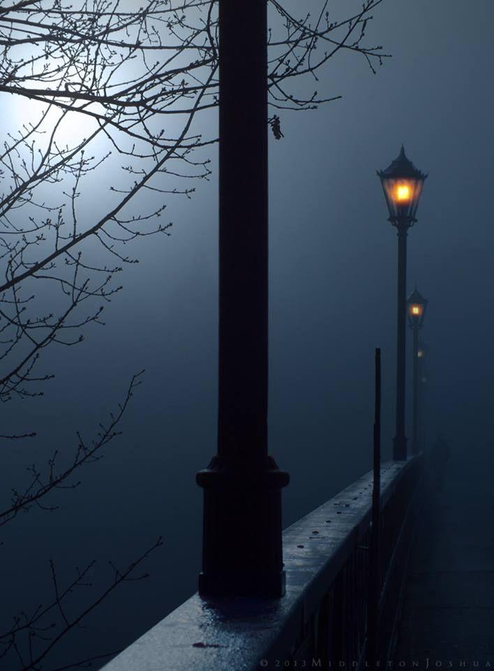 HAMILTON BRIDGE in fog