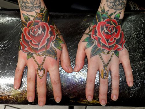 i love rose tattoos