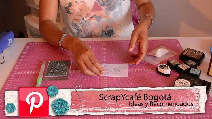 ScrapYcafé - Acuarelables Embossing. #LunesdeTutorial #ScrapYcafé #Scrapbooking #Crafts #Embossing