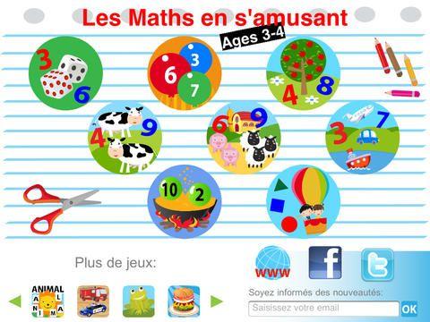 Les Maths en s'amusant: Age 3-4 (Gratuit) par Guillaume Joly