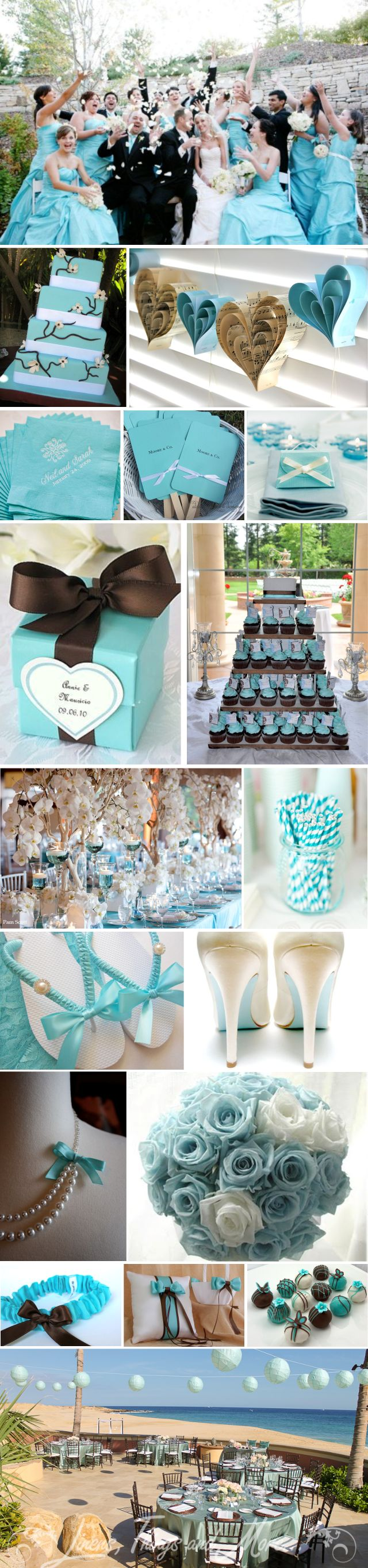 Aqua/Brown wedding inspiration