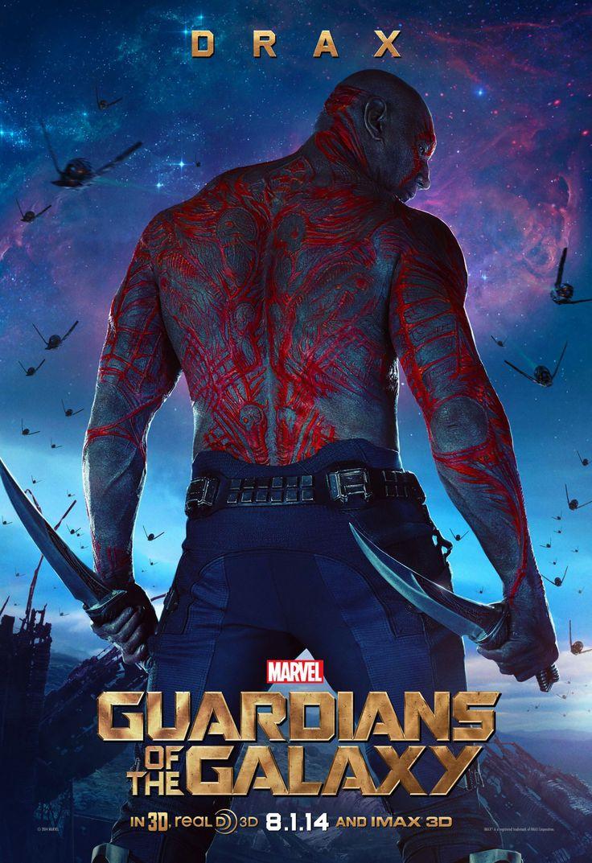 Dave Bautista como Drax the Destroyer en #GuardiansoftheGalaxy