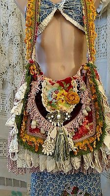 Handmade Shoulder Carpet Bag Fringe Vintage Lace Hippie Gypsy Boho Purse tmyers in Clothing, Shoes & Accessories, Women's Handbags & Bags, Handbags & Purses | eBay
