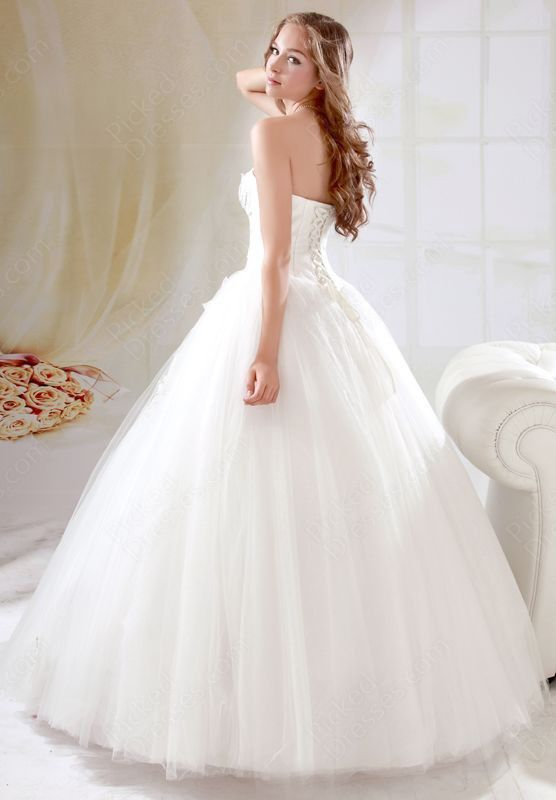Strapless, ball gown / princess style #wedding #dress … Wedding #ideas for brides, grooms, parents & planners https://itunes.apple.com/us/app/the-gold-wedding-planner/id498112599?ls=1=8 … plus how to organise an entire wedding, within ANY budget ♥ The Gold Wedding Planner iPhone #App ♥ http://pinterest.com/groomsandbrides/boards/ for more #wedding #gowns