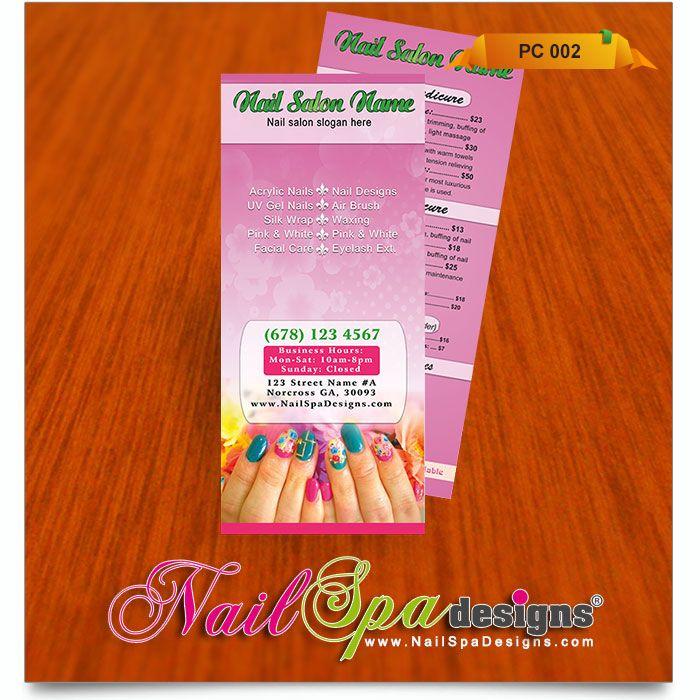 Best Nail Spa Pricelist Design Images On   List