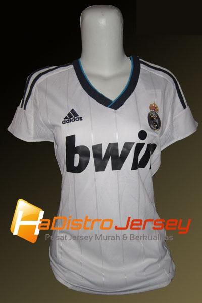Toko Jersey Bola HADISTROJERSEY menyediakan READY STOK Jersey Grade Ori Jersey Ladies Real Madrid Home 2012-2013 $15 http://goo.gl/NVuho