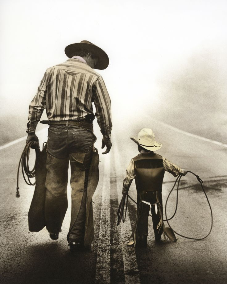 Dad and son rodeo, if I have a son I want a picture like this