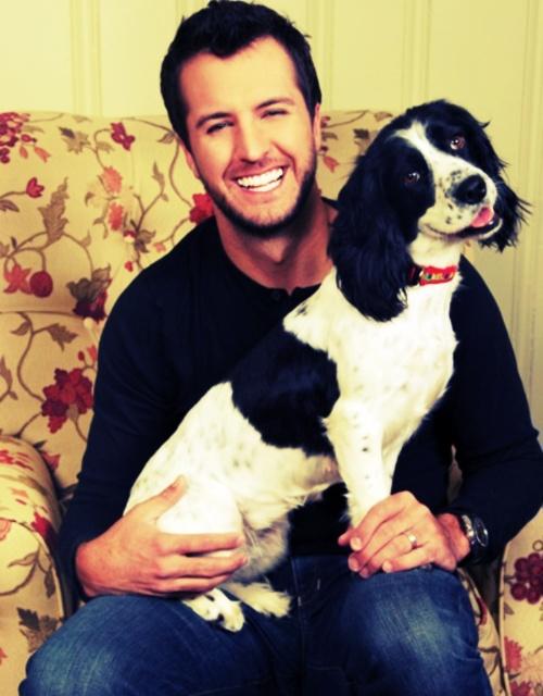 Luke Bryan & a dog. dear god