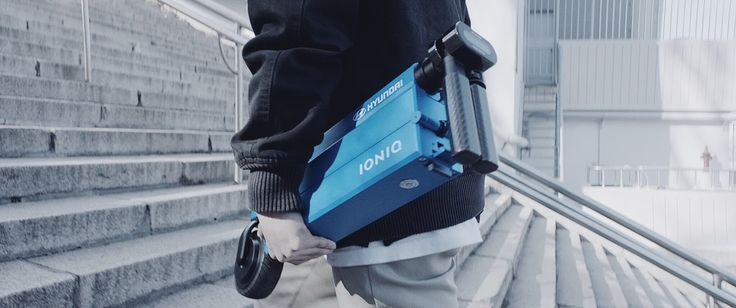CES 2017: You Can Fold And Charge Hyundai's Electric Scooter Inside The Ioniq's Front Door