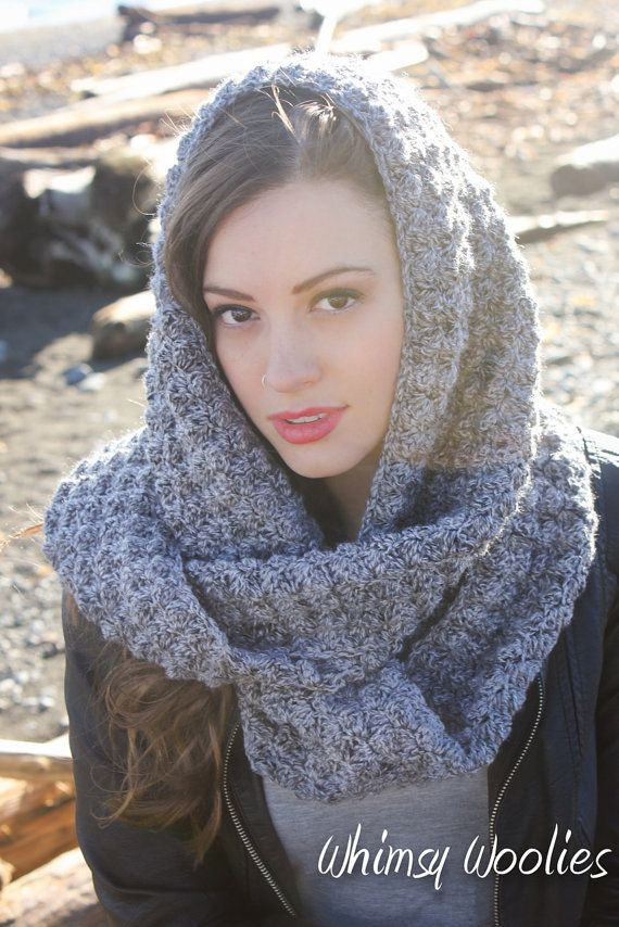 Crochet Infinity Scarf Pattern: 'Winter's Dream' by whimsywoolies $3.11