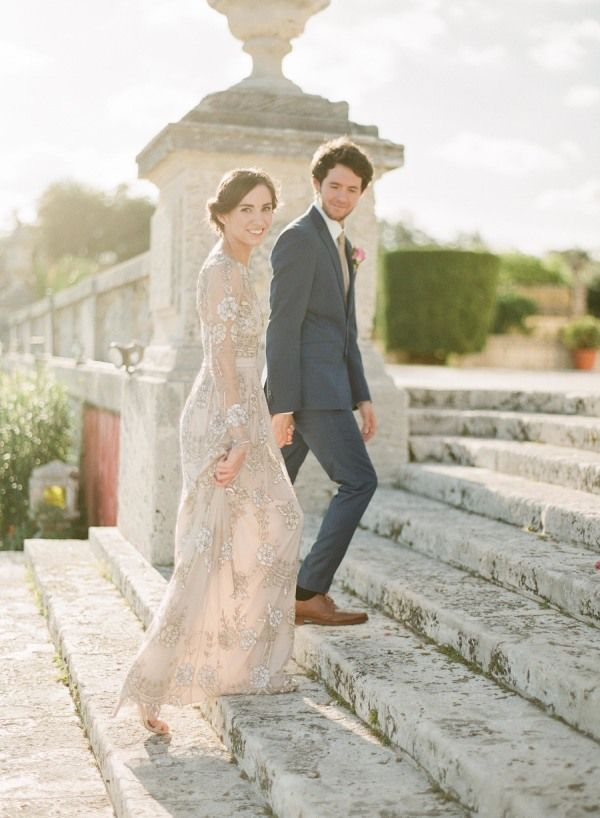 Beautiful wedding shoot with a beaded gown
