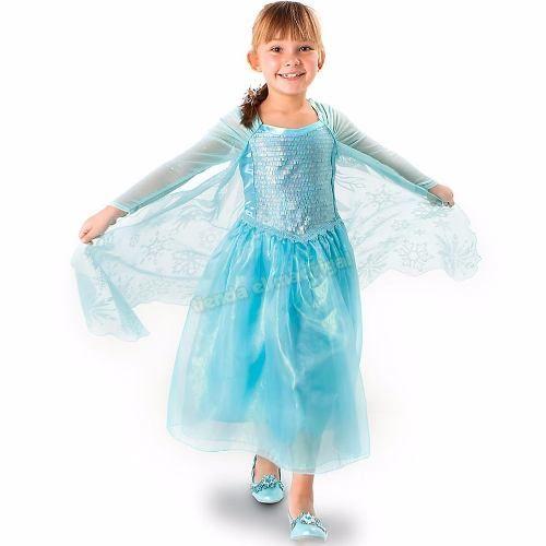 Vestido Disfraz Elsa Frozen Original Disney Store Eeuu - $ 1.499,90