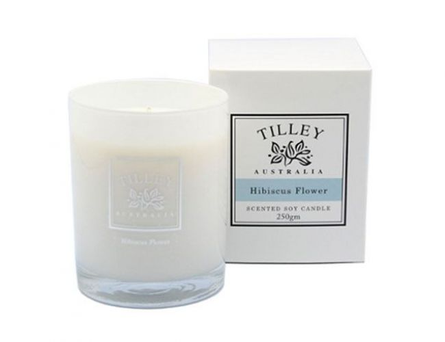 Hibiscus Flower Soy Candle
