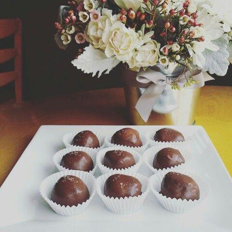 Dark Chocolate Bon Bon. Filled with pistachio mascarpone filling and ...