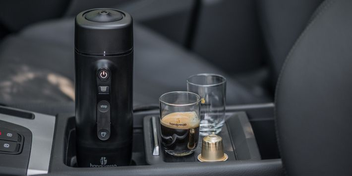 Mobile Expresso Machine Handpresso Auto capsule and Tari mountain pack 4