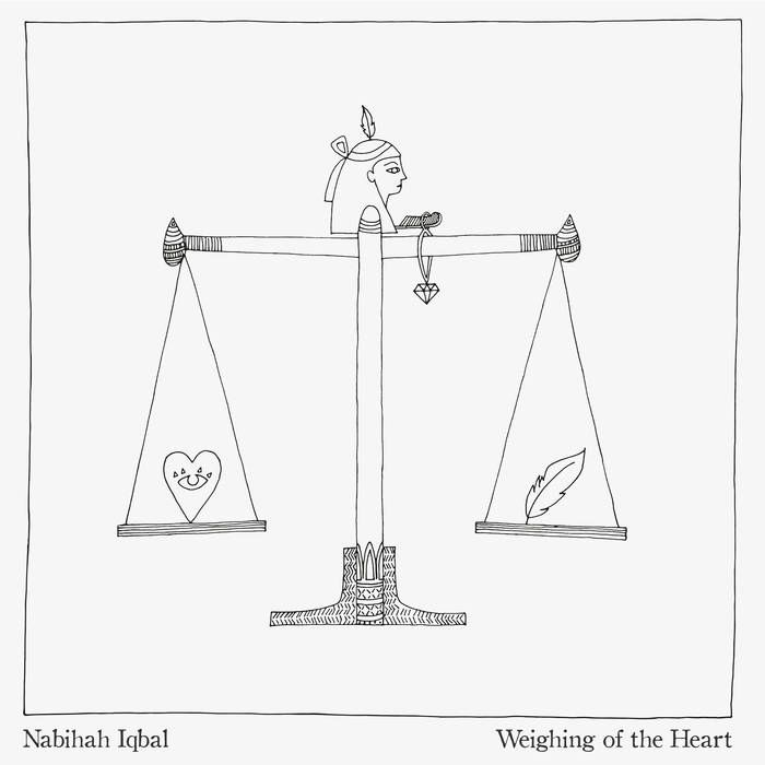 Channeling influences from the likes of CAN and Bauhaus, she melds moody, propulsive basslines with shimmering synth atmospheres. The title alludes to an Ancient Egyptian myth about judgement and the afterlife, the concept of which underlies various ideas that are explored throughout the album.  https://nabihahiqbal.bandcamp.com/album/weighing-of-the-heart