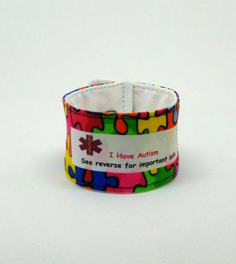 Autism Id Bracelet Awareness Medical Alert