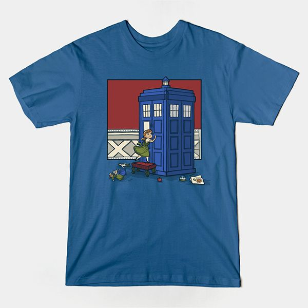 Frozen Doctor Who T Shirt |  Anna is asking if the Doctor wants to build a snowman. A cute and funny design. | Visit http://shirtminion.com/2015/04/frozen-doctor-who-t-shirt/