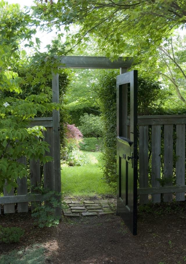 Arbor with door - very cool for a secret garden entrance