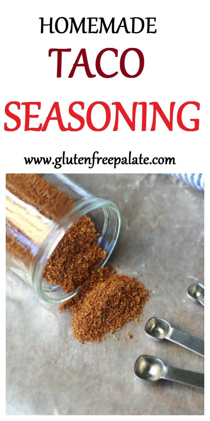 This easy gluten-free taco seasoning is delicious with ground beef, ground turkey or on fish tacos.