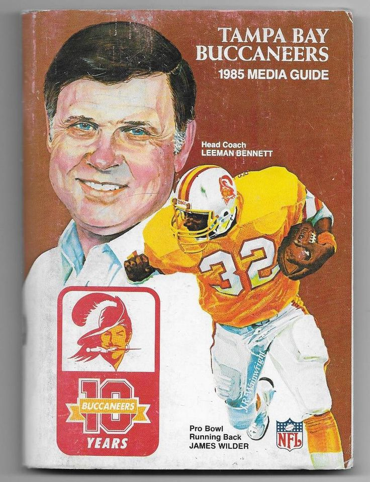 1985 tampa bay buccaneers media guide from 1.1 Tampa