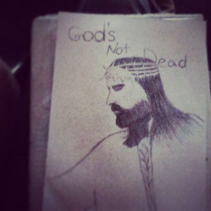 Led pencil drawn Jesus