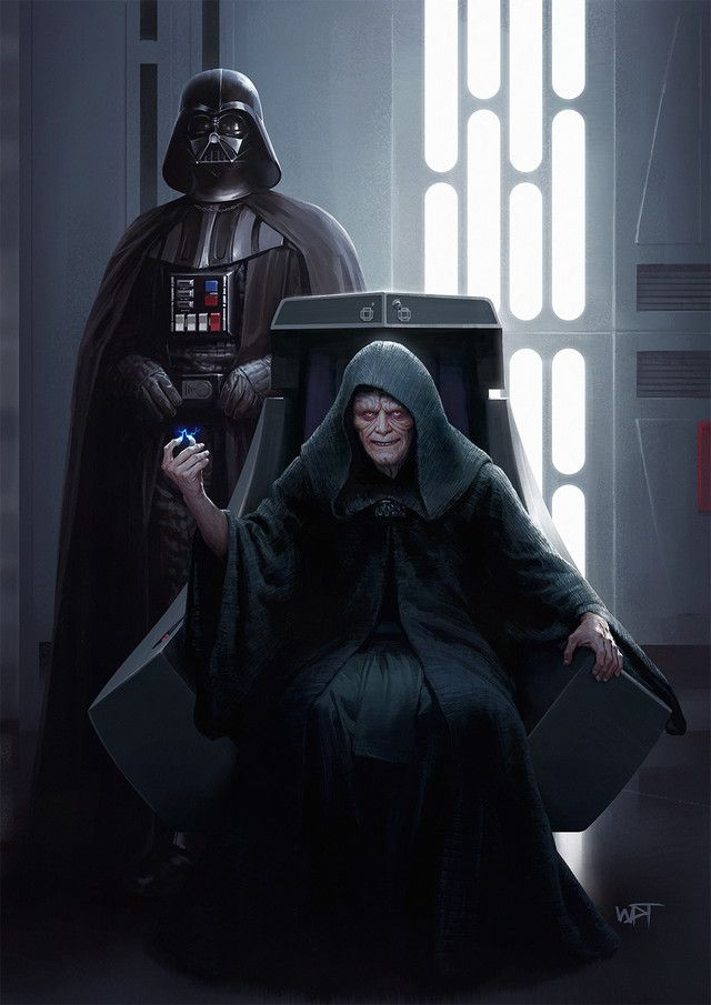 Darth Vader And The Emperor Of The Galactic Empire And Dark Lord Of The Sith Darth Sidious By Darren Ta Star Wars Pictures Star Wars Images Star Wars Poster