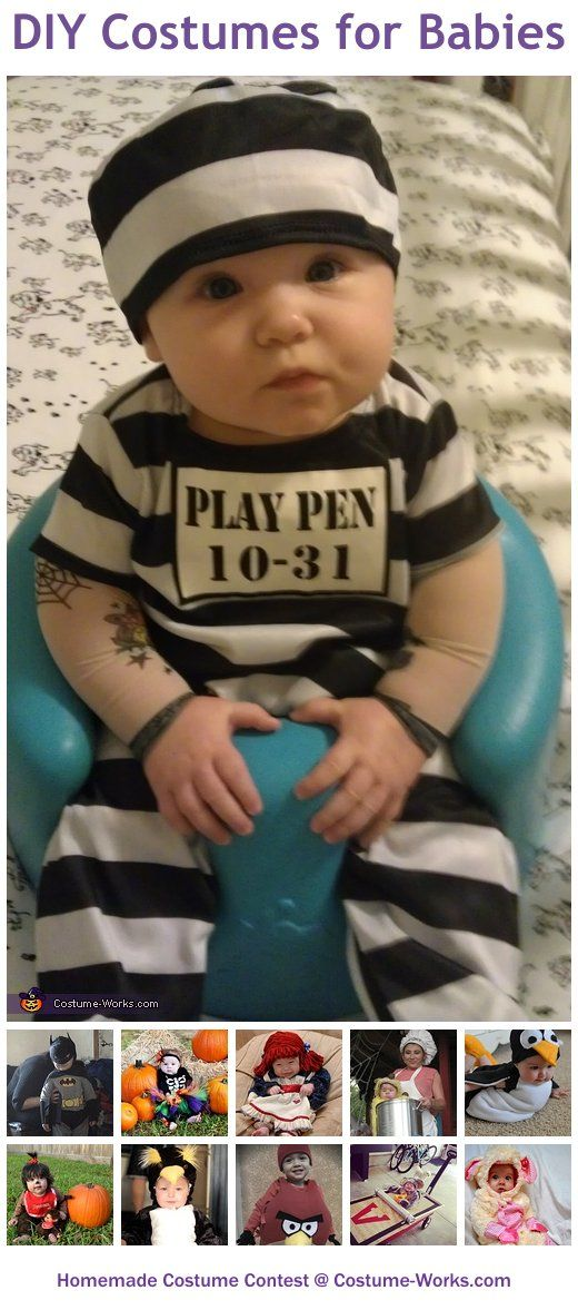 Homemade Costumes for Babies - a lot of DIY costume ideas! This really doesn't relate to me right now. Now worries guys! lol But it was too cute to not post.
