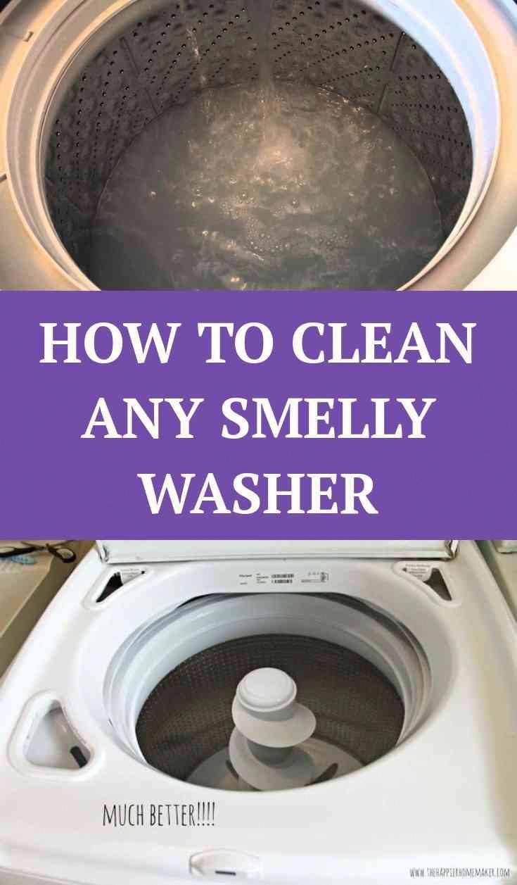 How To Clean A Smelly Washing Machine Washing Machine Smelly