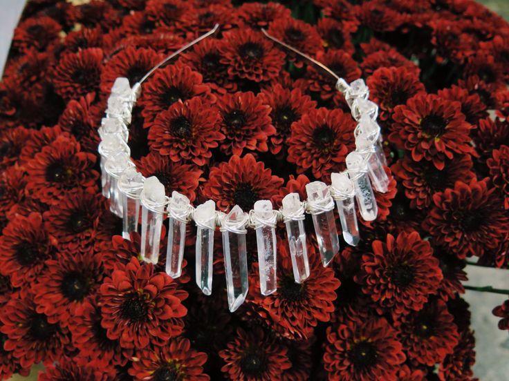 Silver wired Quartz Crown by Crowns&Wreaths