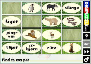 Vendespil - Vilde dyr