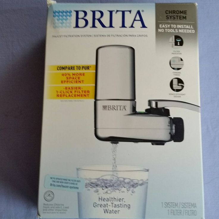 Brita On Tap Faucet Water Filter System Chrome New In Open Box #Brita