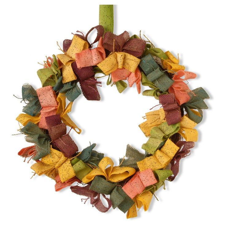 22 Ribbon Garden Accents Easter Wreath - National Tree Company,
