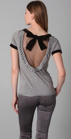 REDValentino Short Sleeve Tee Shirt with Net Back