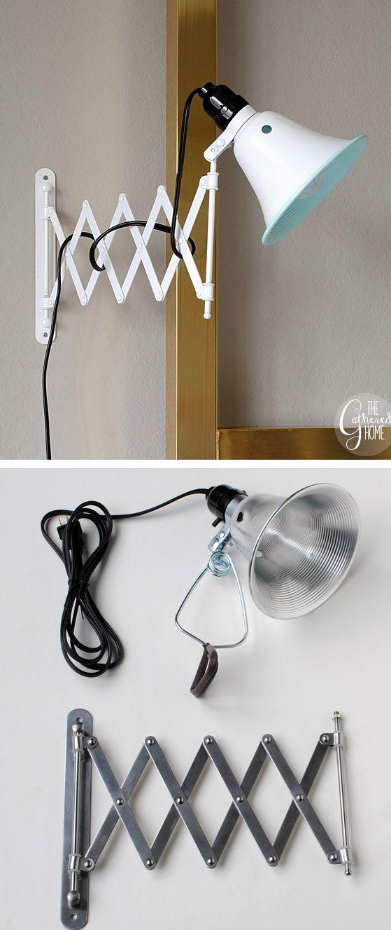 DIY accordion sconces - IKEA hack