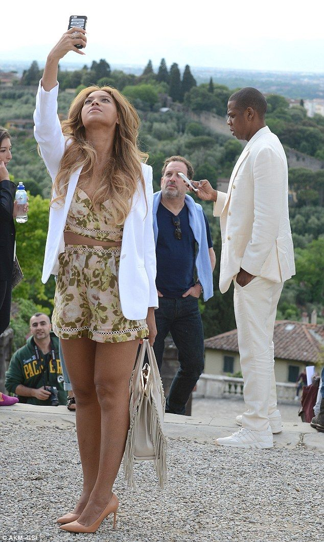 Paparazzi in the making: Beyoncé took endless pictures throughout their sight-seeing trip