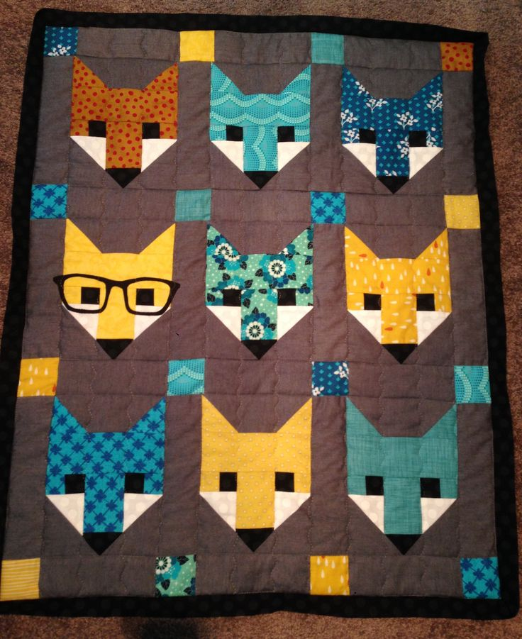 Made using the fox pattern from Forest Fancy and used the free download for the glasses.