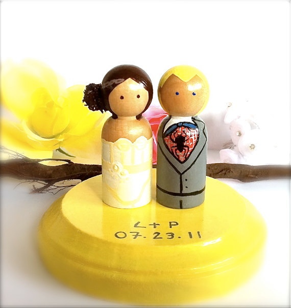 Superhero Wedding Cake Toppers Any by CreativeButterflyXOX on Etsy, $55.00
