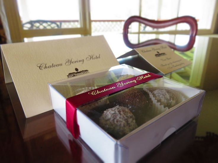 Welcome chocolate truffles at Chateau Yering, Vic, Australia | by http://qosy.co