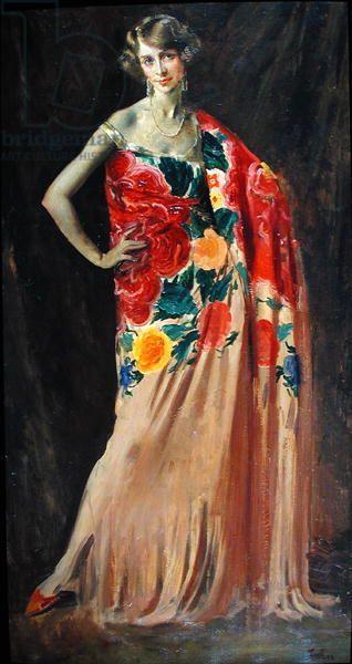 Augustus Edwin John - Portrait of Ethel Jacobs of Baltimore (1927)