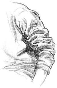 How to Draw Fabric Folds Tutorial by Barbara Bradley