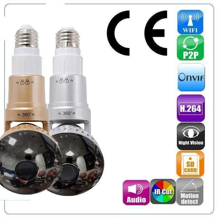 Wireless Light Bulb Security Camera is convenient and easy to maintain and operate. Just screw it in the lamp holder then installation is completed! It can rota